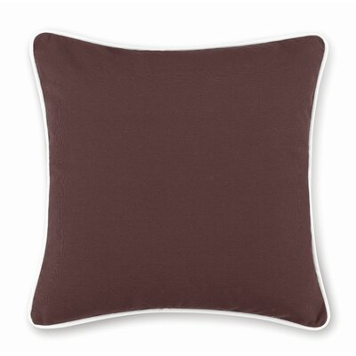 Monaco Contrast Pillow Slipcover Size: 18 H x 18 W, Color: Chocolate/White