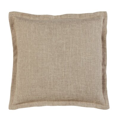 Textured Linen Pillow Slipcover Color: Sand