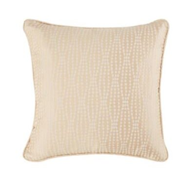 Strands Box Cushion Pillow Cover Color: Tan