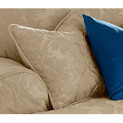 Matelasse Damask Pillow Box Cushion Slipcover Color: Tan