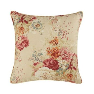 Ballad Bouquet Pillow Box Cushion Slipcover Color: Blush