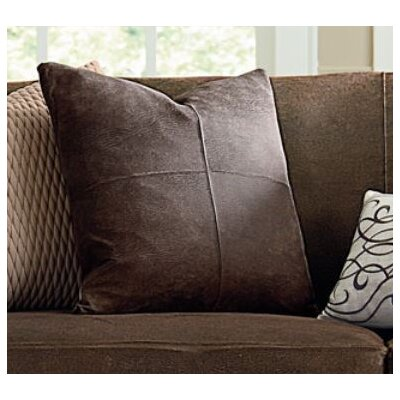 Ultimate Stretch Leather Pillow Slipcover Color: Weathered Saddle