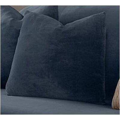 Stretch Plush Box cushion Futon Slipcover Color: Storm Blue