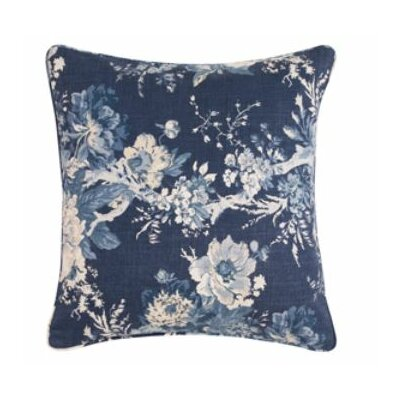 Ballad Bouquet Pillow Box Cushion Slipcover Color: Indigo