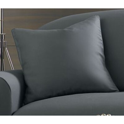 Essential Twill Pillow Box Cushion Slipcover Color: Smoke Gray