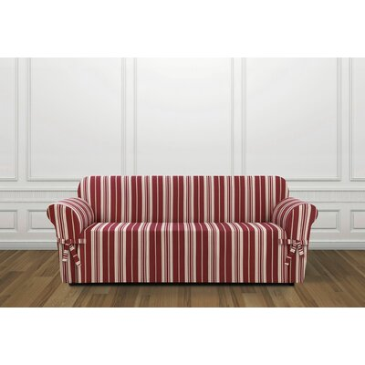 South Hampton Stripe Box Cushion Sofa Slipcover