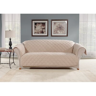 Sofa Slipcover Color: Taupe