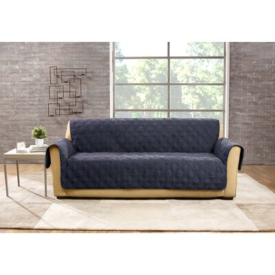 Deluxe Sofa Slipcover Color: Storm Blue