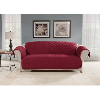 Sofa Slipcover Color: Burgundy