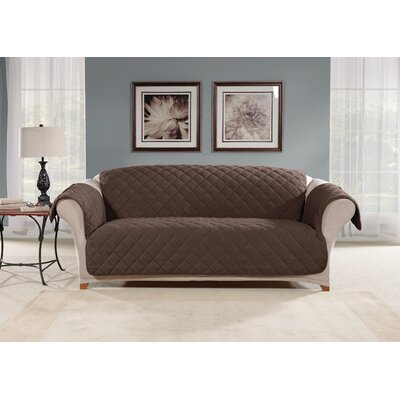 Box Cushion Sofa Slipcover Color: Chocolate