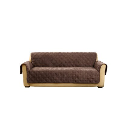 Deluxe Sofa Slipcover Color: Chocolate