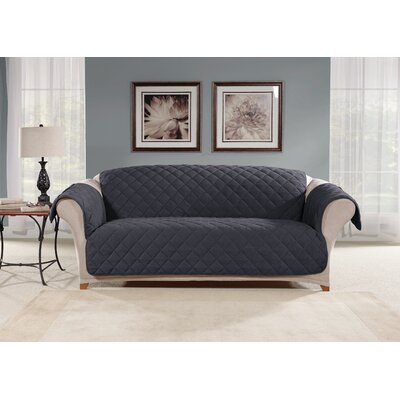 Box Cushion Sofa Slipcover Color: Storm Blue