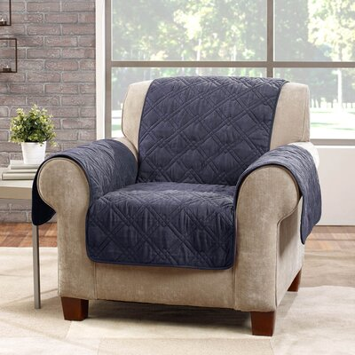 Deluxe Arm Chair Slipcover Color: Storm Blue