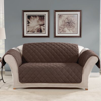 Loveseat Slipcover Color: Chocolate
