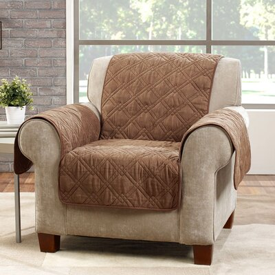 Deluxe Arm Chair Slipcover Color: Brown