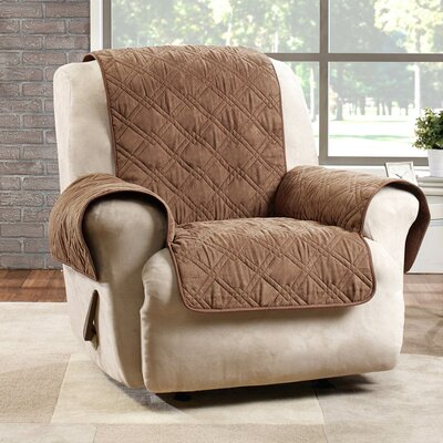 Deluxe Recliner Slipcover Color: Brown