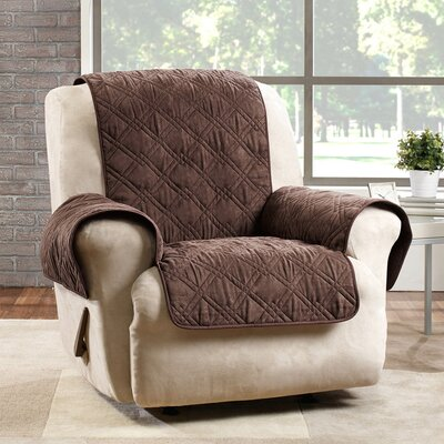 Deluxe Box Cushion Recliner Slipcover Color: Chocolate