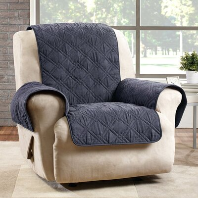 Deluxe Box Cushion Recliner Slipcover Color: Storm Blue