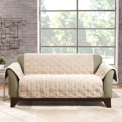 Deluxe Loveseat Slipcover Color: Cream