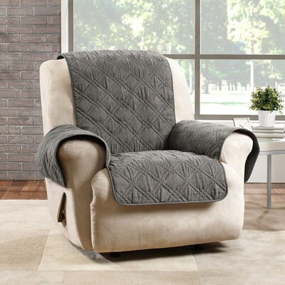 Deluxe Box Cushion Recliner Slipcover Color: Graphite