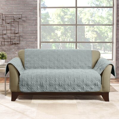 Deluxe Box Cushion Loveseat Slipcover Color: Mist