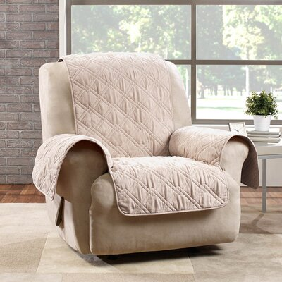 Deluxe Box Cushion Recliner Slipcover Color: Cream