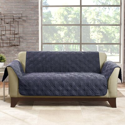 Deluxe Loveseat Slipcover Color: Storm Blue