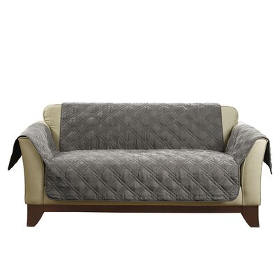 Deluxe Loveseat Slipcover Color: Graphite