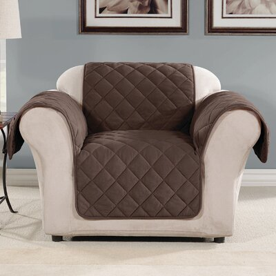Arm Chair Slipcover Color: Chocolate