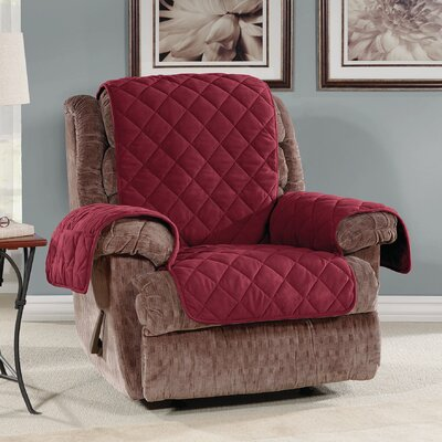 T-Cushion Recliner Slipcover Color: Burgundy