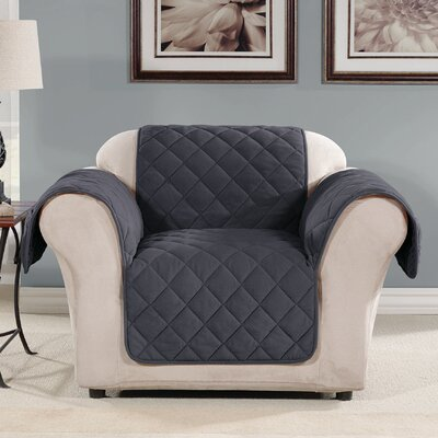 Arm Chair Slipcover Color: Storm Blue