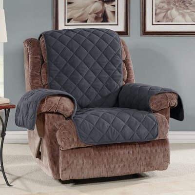 Recliner Slipcover Color: Storm Blue