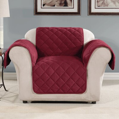 Box Cushion Armchair Slipcover Color: Burgundy