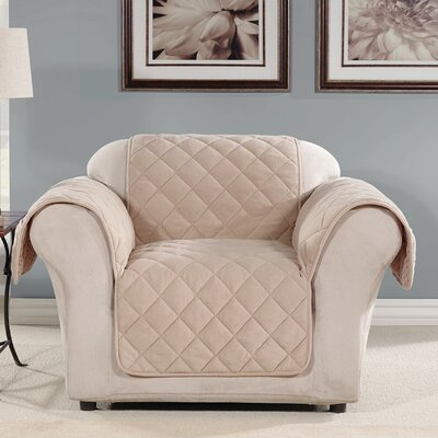 Arm Chair Slipcover Color: Taupe