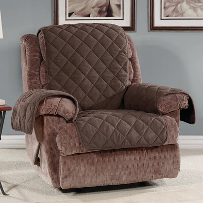 T-Cushion Recliner Slipcover Color: Chocolate