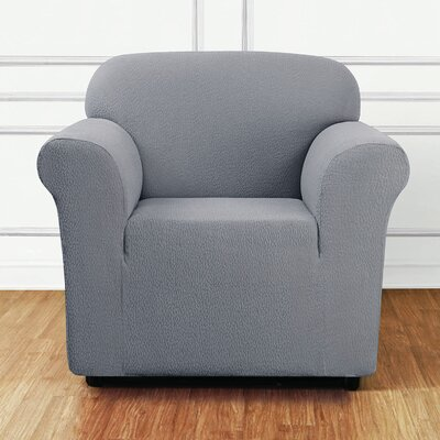 Side Box Cushion Armchair Slipcover Upholstery: Mist
