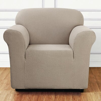 Side Box Cushion Armchair Slipcover Upholstery: Tan