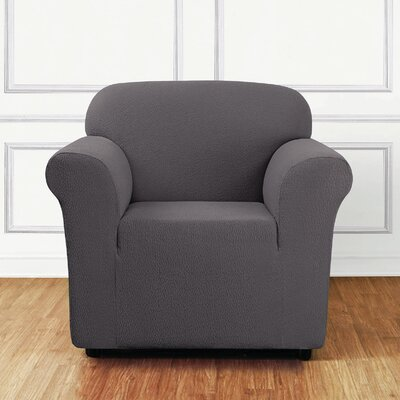 Side Box Cushion Armchair Slipcover Upholstery: Gray