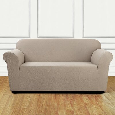 Loveseat Slipcover Upholstery: Tan