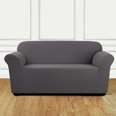 Loveseat Slipcover Upholstery: Gray