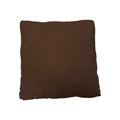 Duck Solid Pillow Slipcover Color: Warm Chocolate
