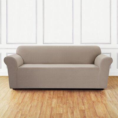 Stretch Mini Chevron Sofa Slipcover Color: Tan