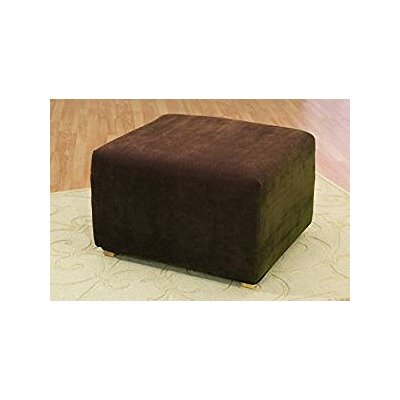 Stretch Pique Ottoman Slipcover Color: Chocolate