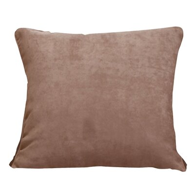 Soft Suede Self Cord Throw Pillow Color: Sable