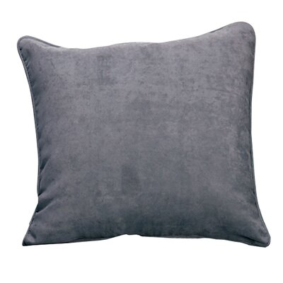 Soft Suede Self Cord Throw Pillow Color: Smoke Blue