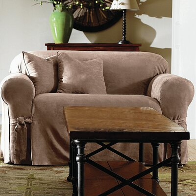 Sofa Slipcover Upholstery: Brown Clay