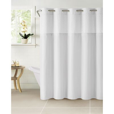 Hammann Eyelet Shower Curtain Color: White