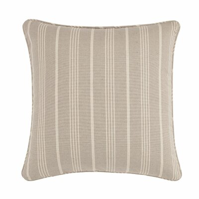 Grain Sack Stripe Throw Pillow Color: Linen