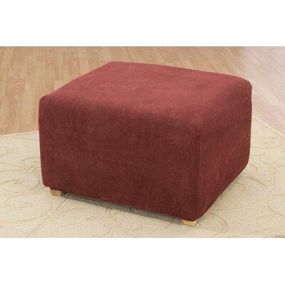 Stretch Pique Ottoman Slipcover Upholstery: Garnet