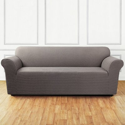 Stretch Sonya Sofa Slipcover Color: Birch/Timber
